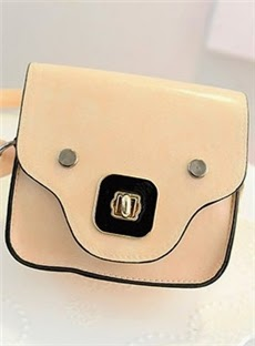 Lovely Candy Color Casual Crossbody Bag