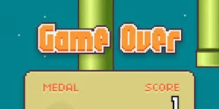 Game over for Flappy Bird.