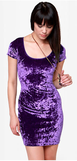 One Rad Girl Purple Velvet Dress