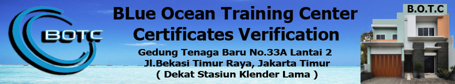 Blue Ocean Training Center Certification