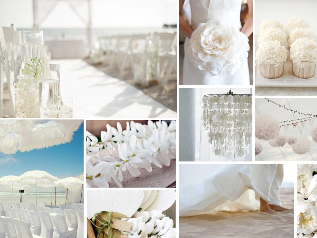 Tema Matrimonio Total White : Los colores de moda para primavera verano tu boda a