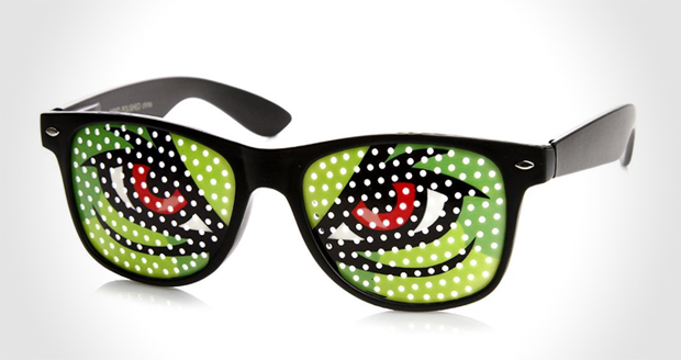 Monster Eyes Poker Face Colorful Classic Wayfarer Sunglasses