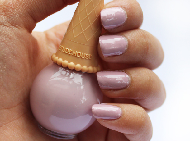 etude house sweet recipe ice cream nail polish lilac review swatch