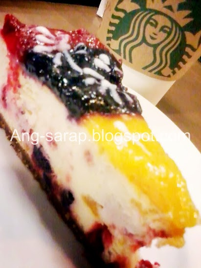 Starbucks, outrageous cheesecake