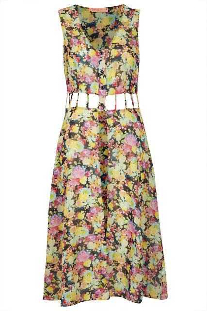 cutout floral dress