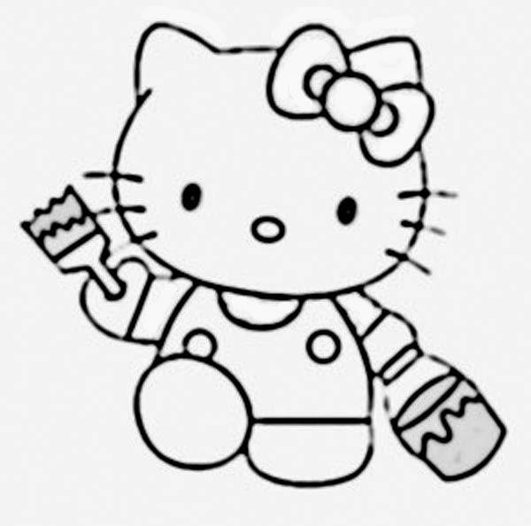 Mewarnai gambar hello kitty 5