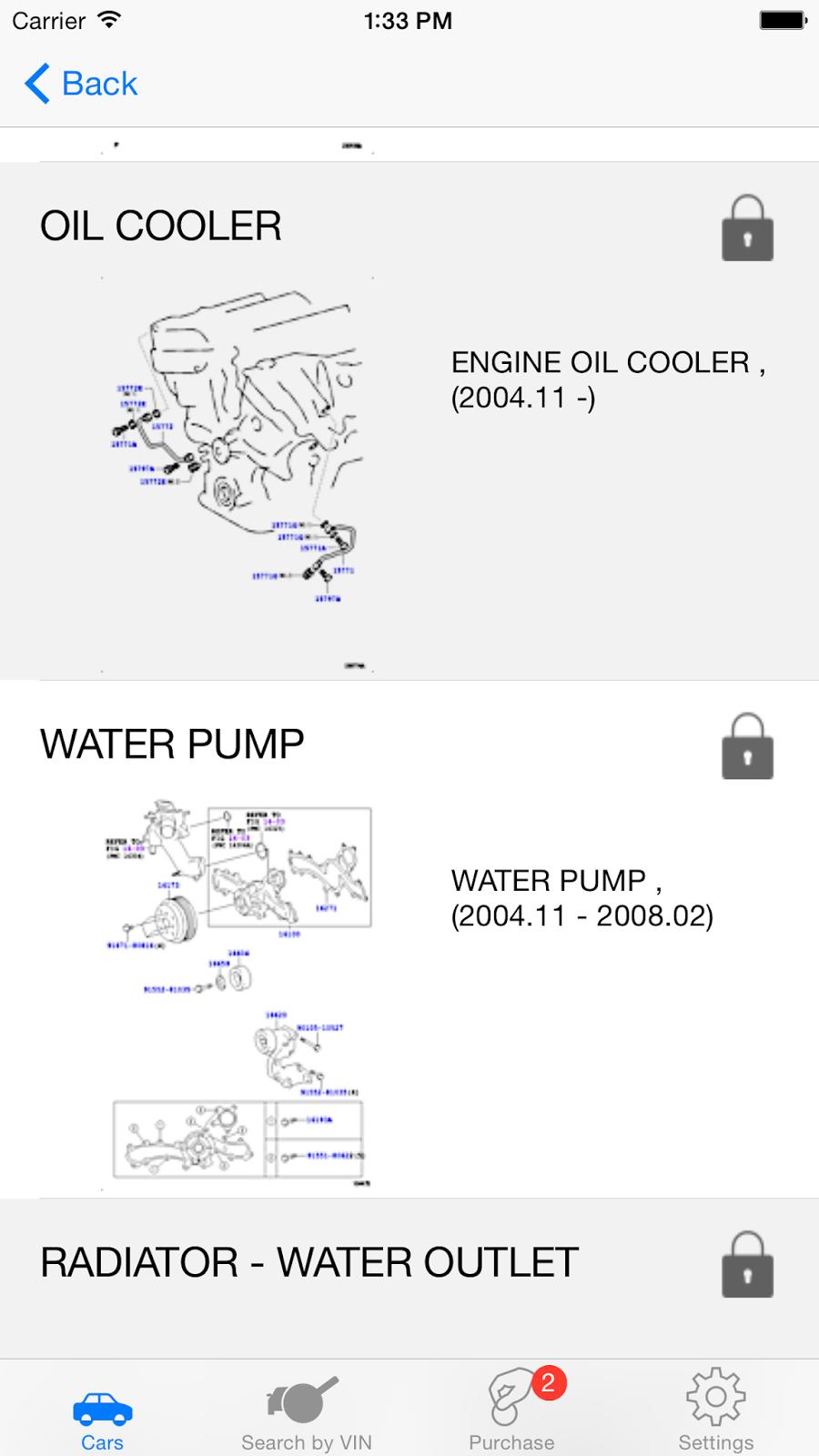 Toyota Parts Diagram Vin Engine Oil