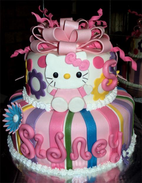 Delanas Cakes: Hello Kitty 2 Tier Cake