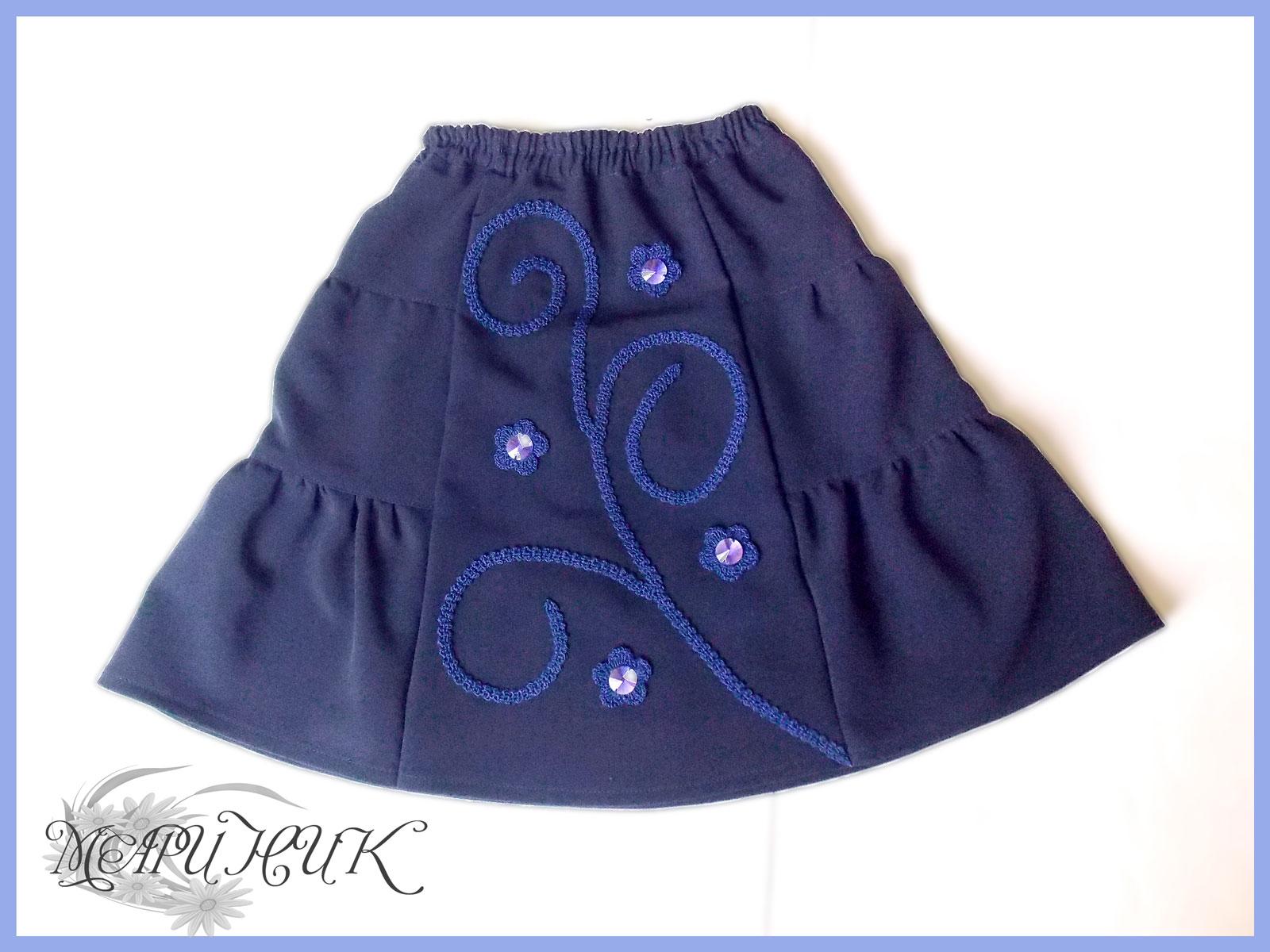 юбка для девочки со стразами