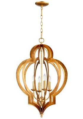 ZINC DOOR VERTIGO GOLD LEAF CHANDELIER