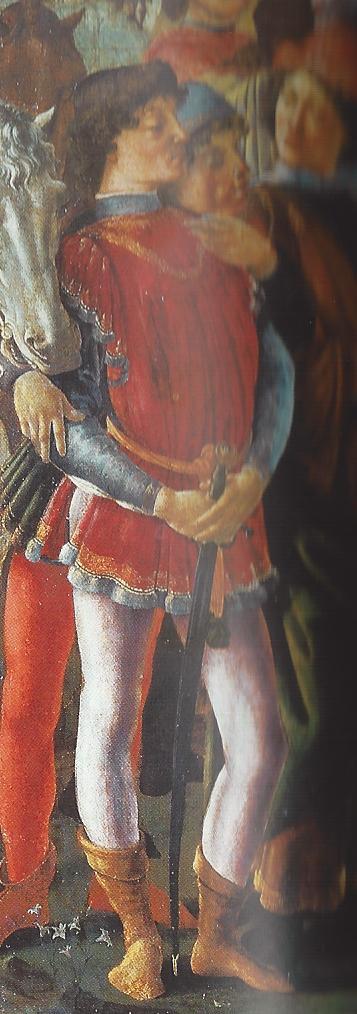 ¿Quiénes son los personajes del cuadro 'La adoración de los Reyes Magos'? Sandro Boticelli, 1475 Giuliano+de+medici