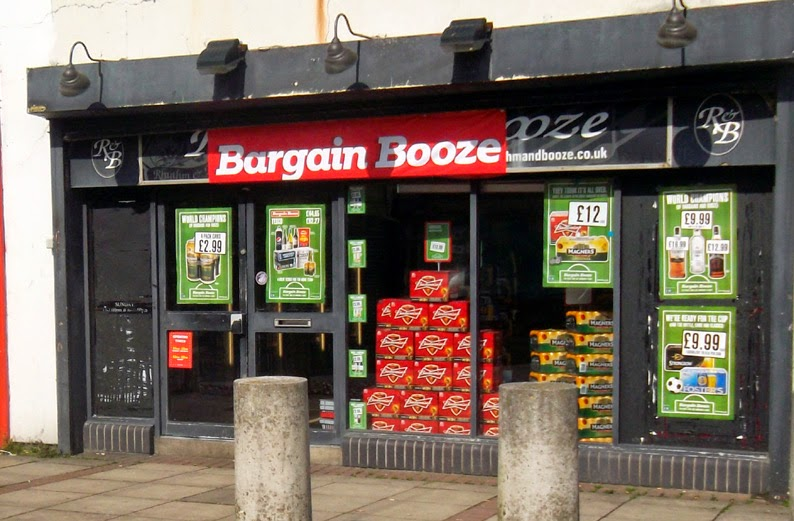 The new Bargain Booze shop in Brigg - picture on Nigel Fisher's Brigg Blog