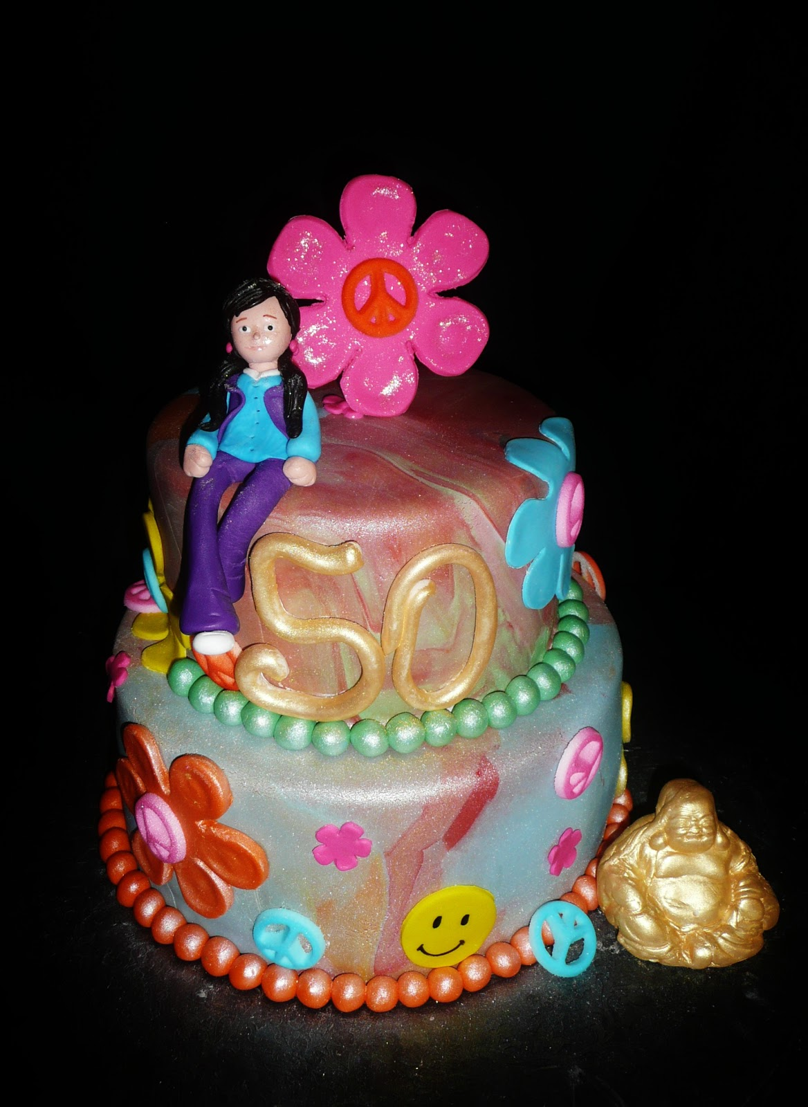 Baking With Roxanas Cakes 60s Themed Cake