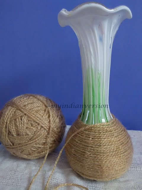 Diy : Yarn Wrapped Vase Tutorial - Step 4