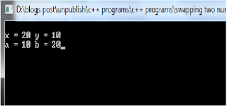 C program to swap numbers, call by value