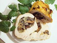 Filet z kurczaka nadziewany grzybami leśnymi