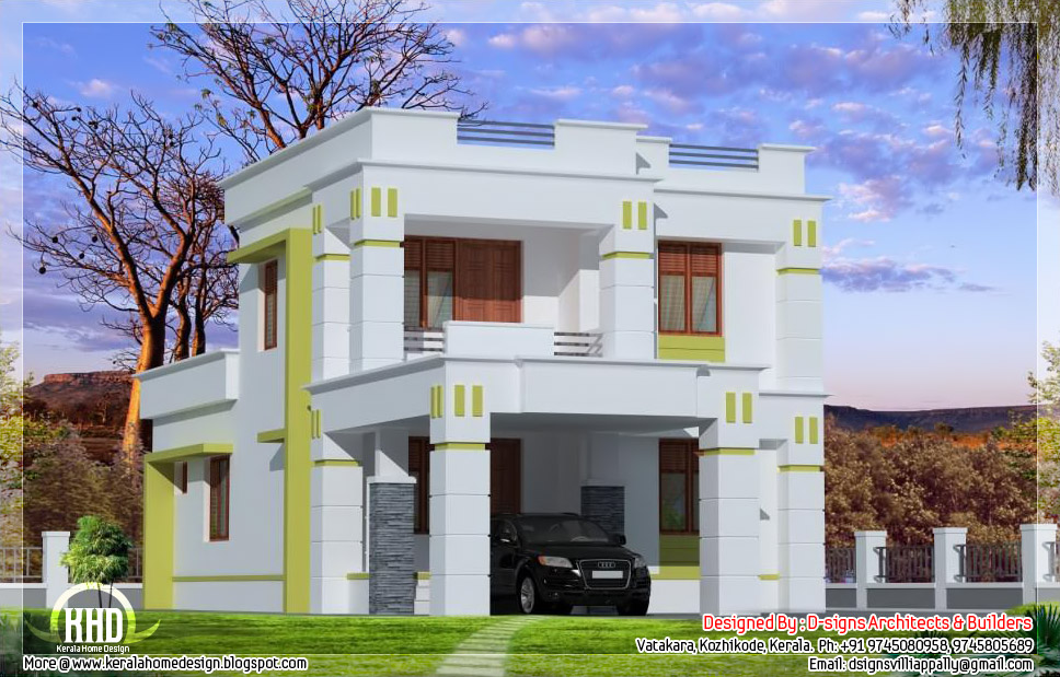 4 bedroom budget home design in 1800 house design plans - Houses atticsquare meters ...