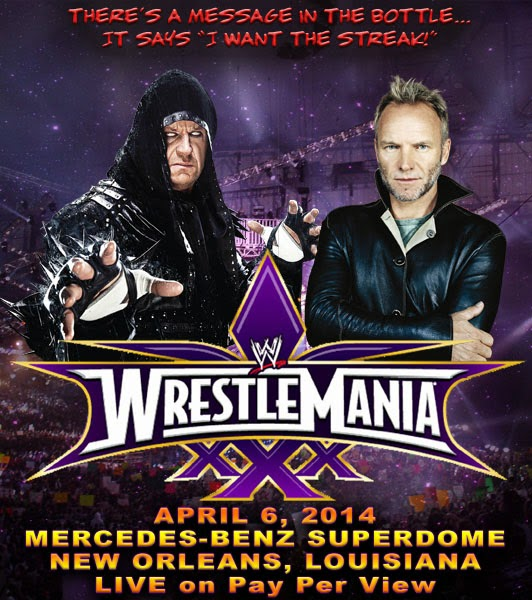 WWE Undertaker vs Sting poster accidentally leaked