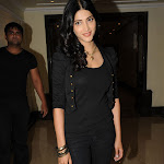 Sruthi Hassan in Black Dress  at 7th Sense Movie Launch  Pics