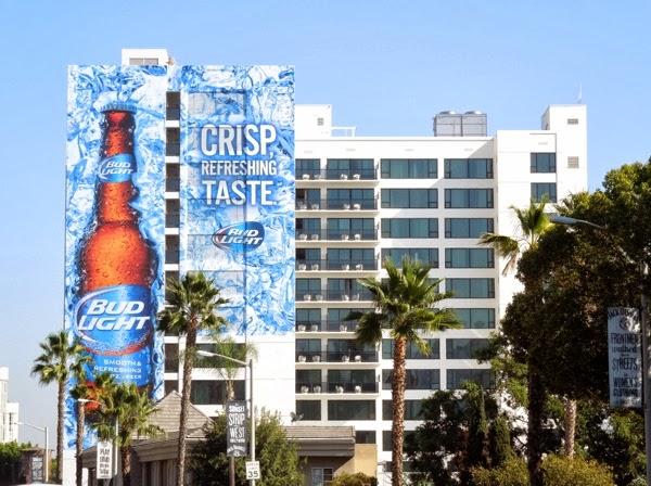 Giant Bud Light Crisp Taste billboard