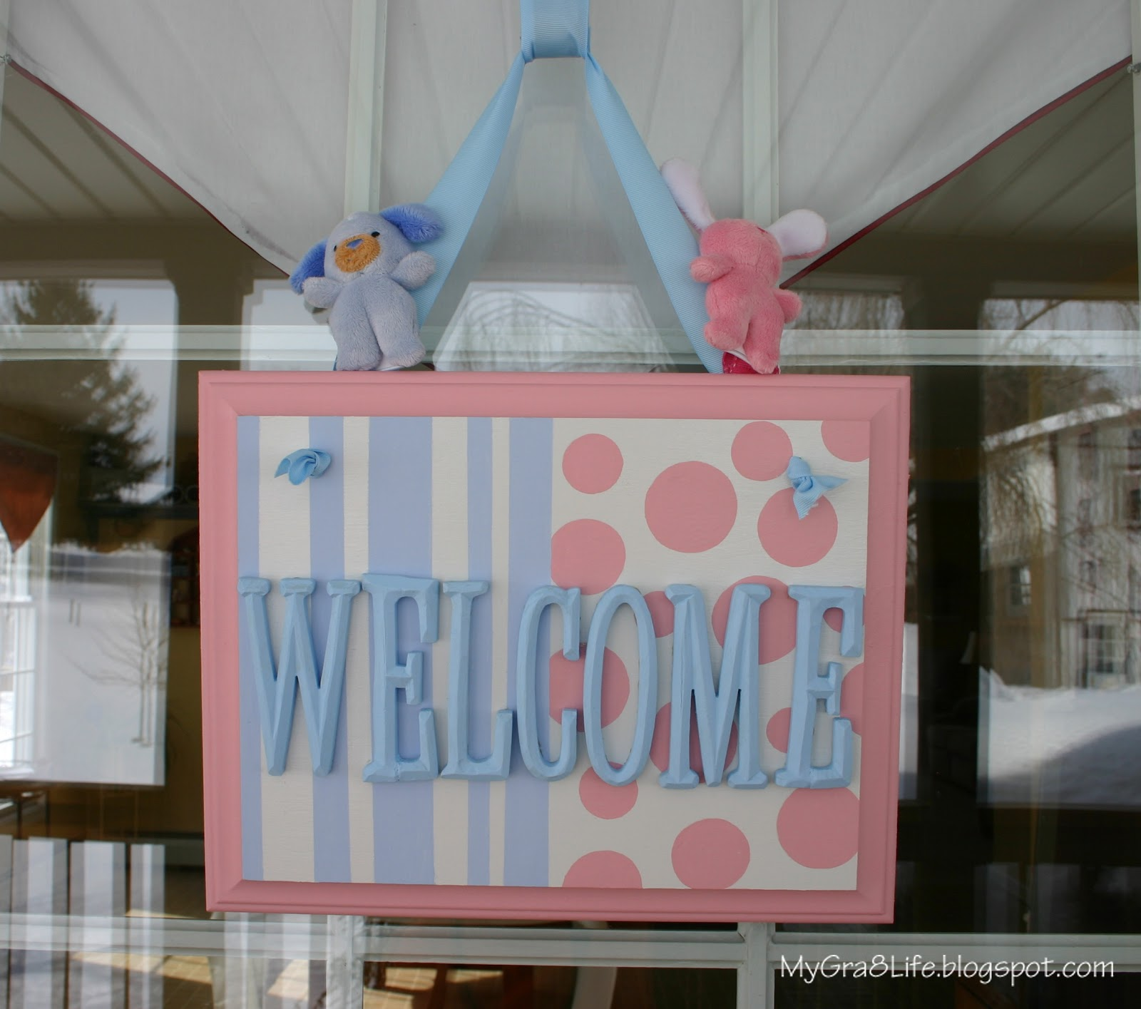 My Gra 8 Life PINK and BLUE Baby Shower