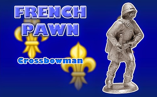 Battle of Agincourt Medieval French Pawn Chess Piece