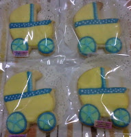 Fancy cookies baby stroller yellow and blue