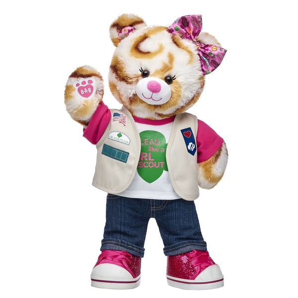 Girl Scout S'mores Campout Bear from Build-A-Bear has Cadette and Older Uniforms Available Online!