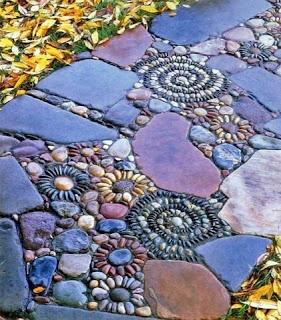 Chão de jardim decorativo