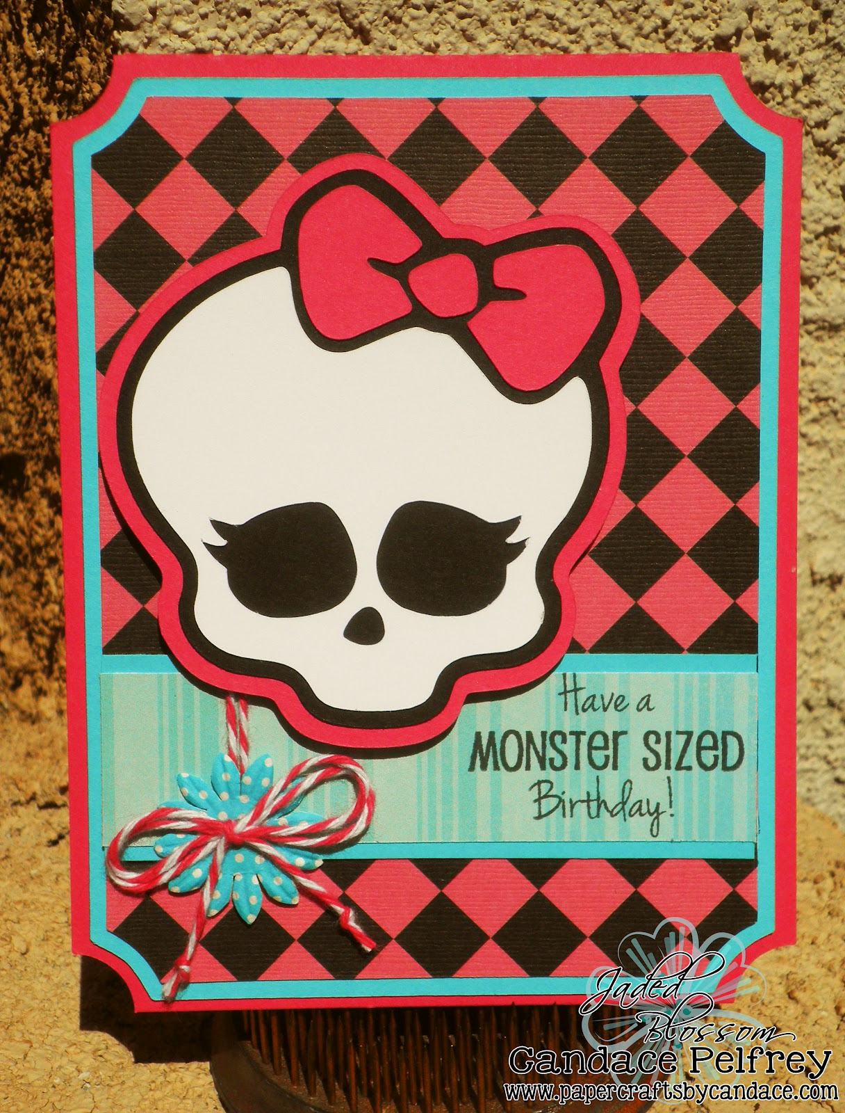 Paper crafts by candace monster high birthday card for Paper mashing craft
