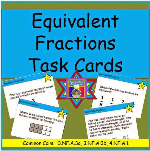 Equivalent Fractions Task Card Set