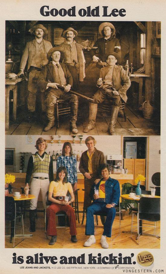 vongestern blog werbung des tages lee jeans 1972. Black Bedroom Furniture Sets. Home Design Ideas