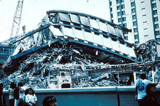 edificio derrumbado mexico 1985