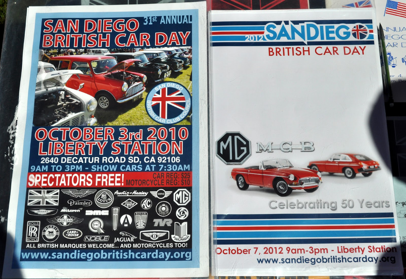 Just a car guy san diego british car day collected pamphlets for British motor cars san francisco