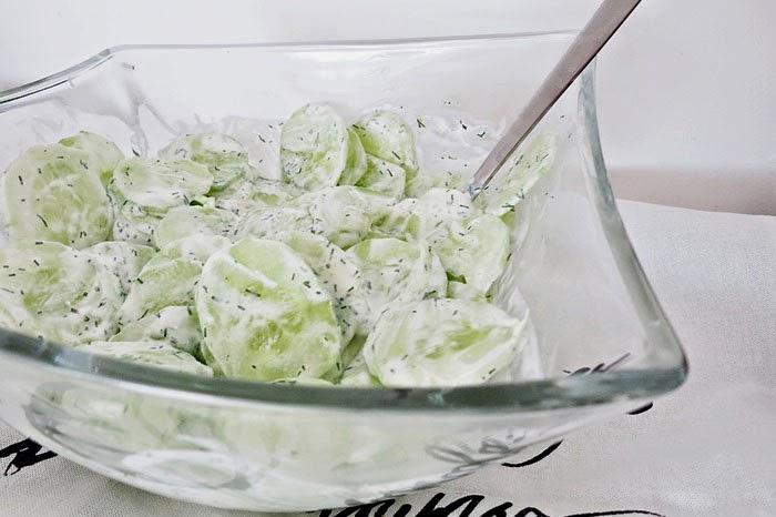 Der goldene Plachutta :: Rahmgurkensalat
