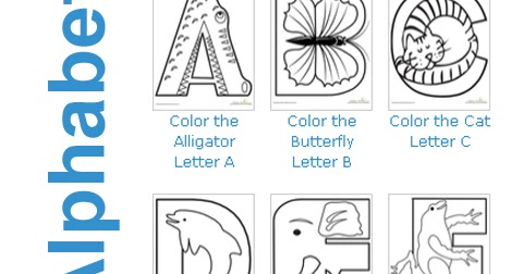 Crazy zoo alphabet coloring pages abc coloring pages - Color The Animal Alphabet Abc Coloring Pages