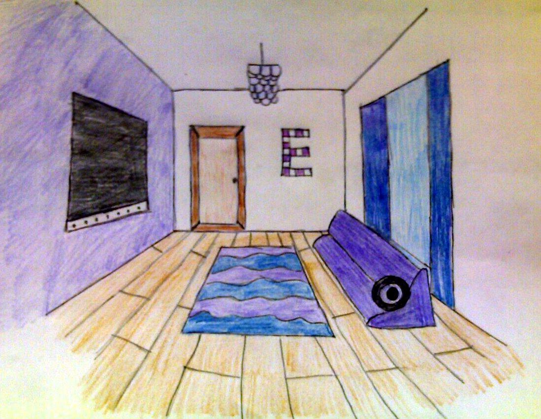 One point perspective dream bedroom - Harvest Artists Blog