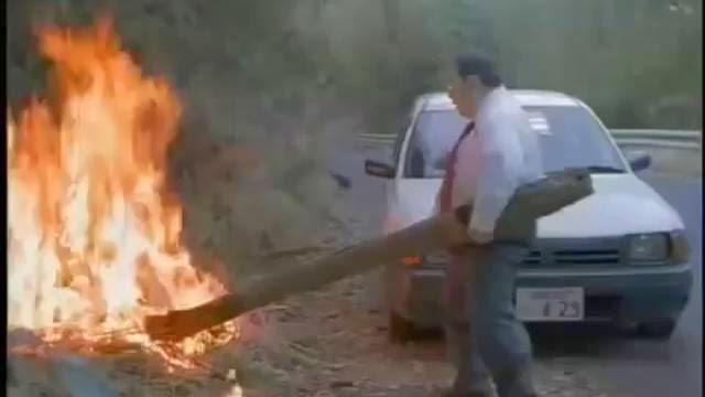 La haute pression peut vous sauver! éteindre un feu avec du sang