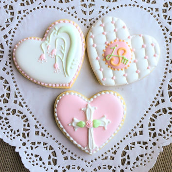 Monogram Cookies vintage wedding gifts