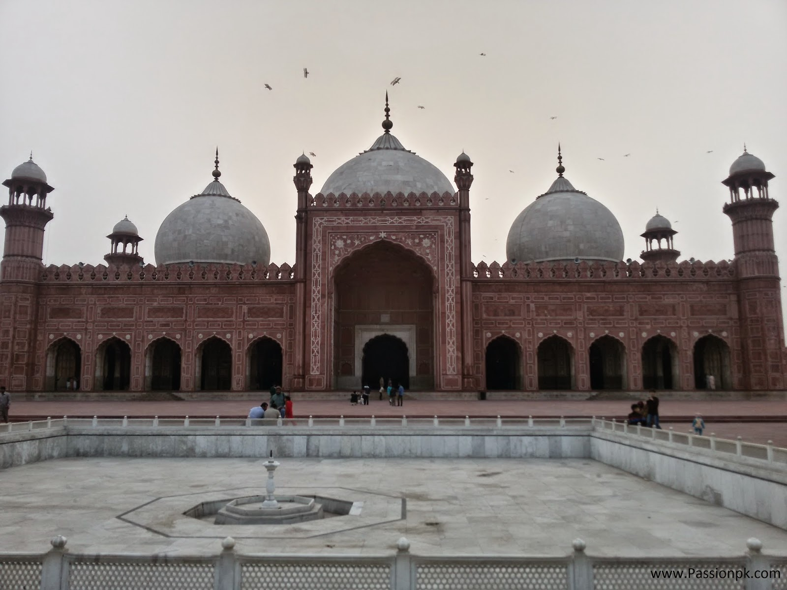 Inside View Of Badshahi Mosque Lahore Beautiful