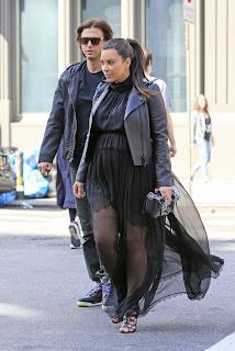 Kim Kardashian  leaving Cipriani