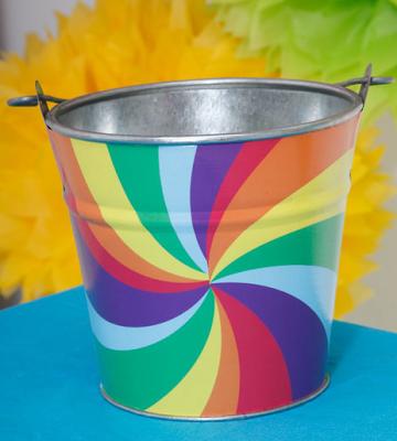 rainbow swirl bucket