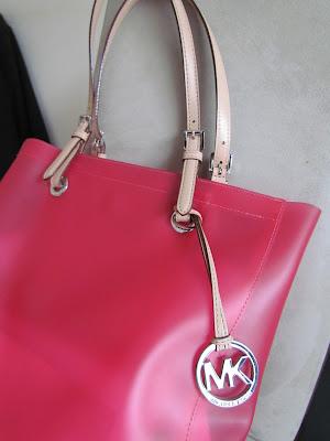 Michael Kors bright pink tote bag