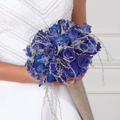 Blue Rose Bridal Bouquet