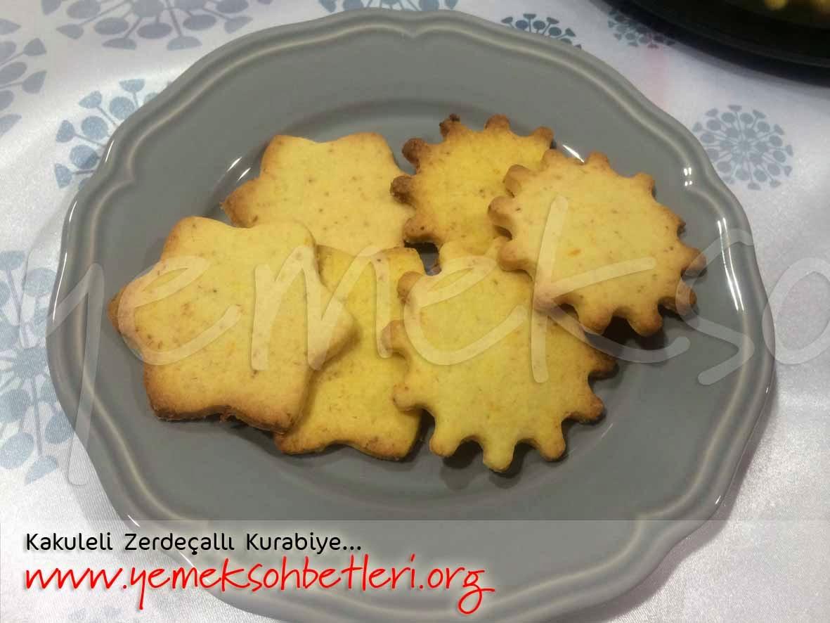 Kakuleli Zerdecalli Kurabiye, zerdecalli kurabiye, kakule, kurabiye tarifi, gulhan kara, mayalihamurisleri, keklerpastalar,