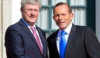 Stephen Harper & Tony Abbott.