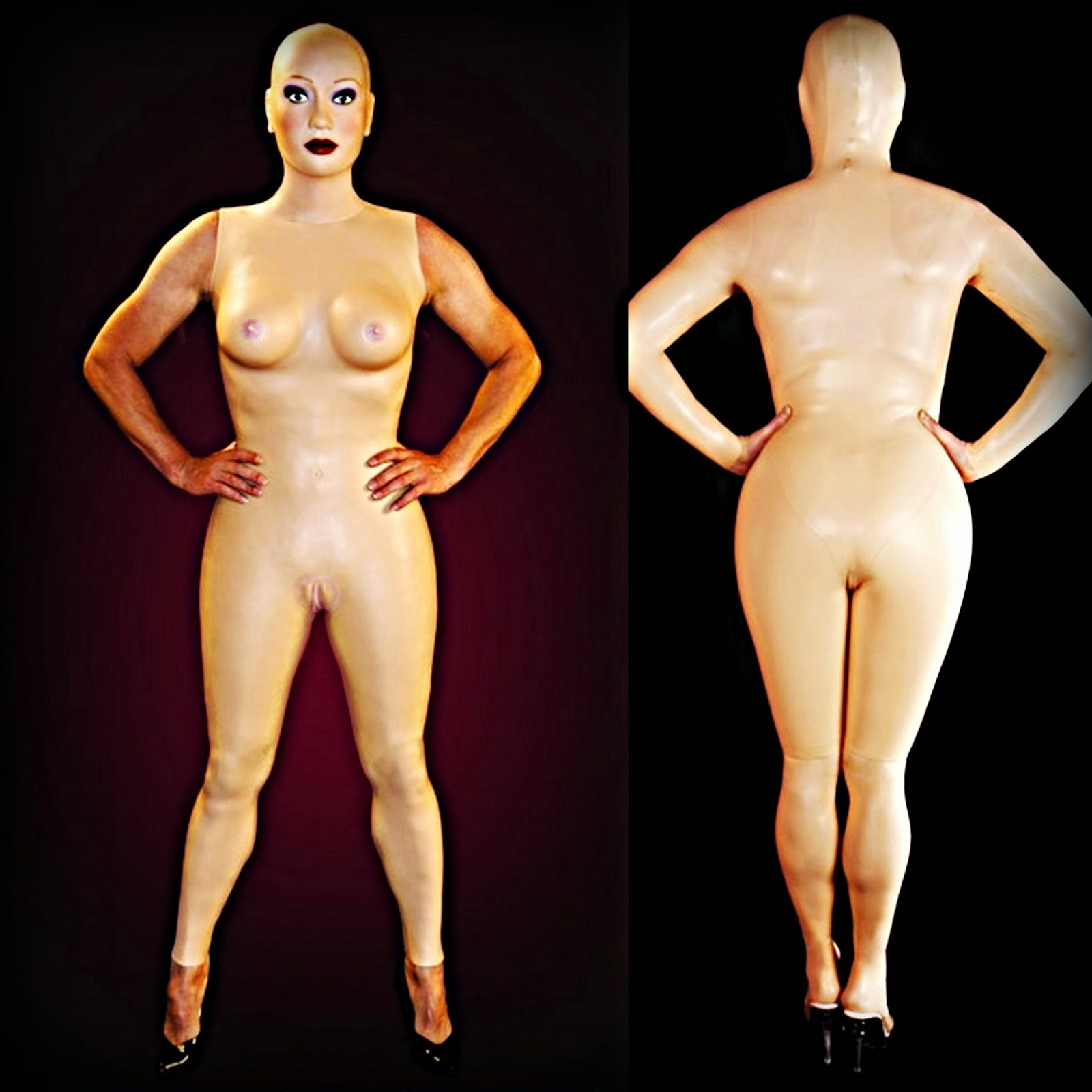Silicone Dollification body suit and transgender molded parts