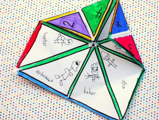 photo regarding Printable Fortune Teller known as Every time I mature up Fortune Teller Entertaining with Preschoolers! (And