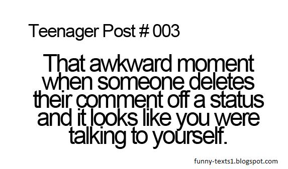 Teenager Post #003 | Funny Texts Teenager