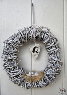 uppfräschad dörrkrans till vintern